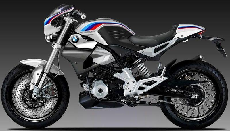 BMW's baby G 310 cafe-racer gets rendered