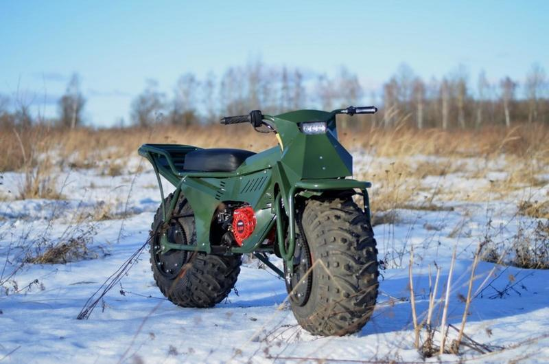 Russian made AWD motorcycle that can be packed in your suitcase