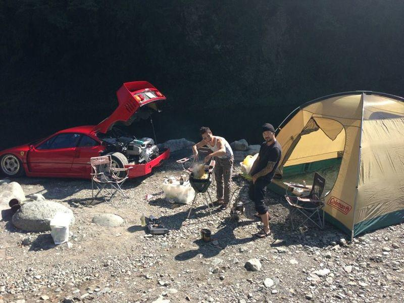 Someone Took a Ferrari F40 Camping in 2014 and We're Still Talking About It!