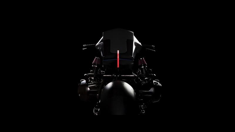 The Digimoto. Showing how future motorcycles should be built