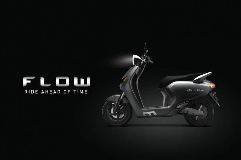This 22 Motors Flow is an electric scooter with Artificial Intelligence