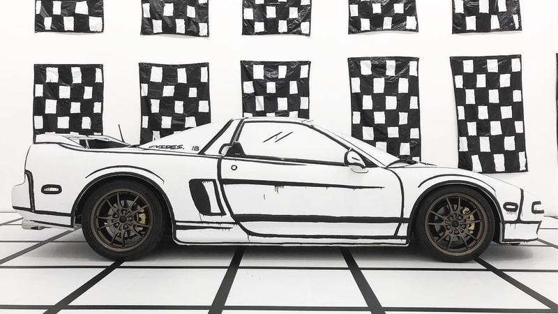This Crazy Wrap on a First-Gen Acura NSX Makes It Look Like a Sketch Came To Life