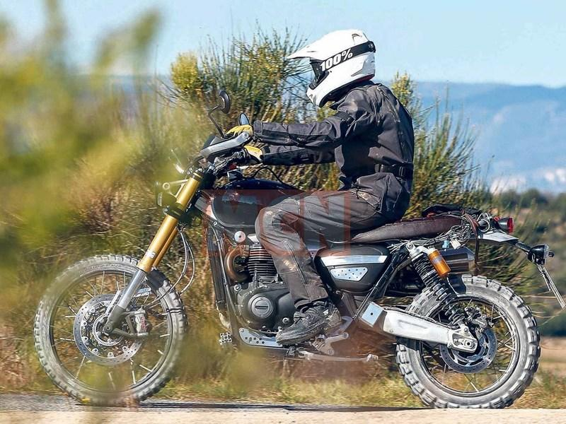 Triumph is setting up stage for a new 1200 Scrambler