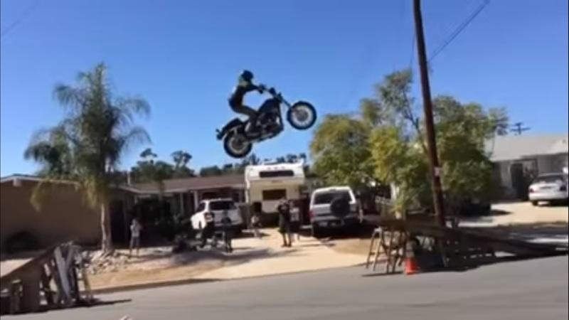 Video: The wanna be stuntman who forgot his math