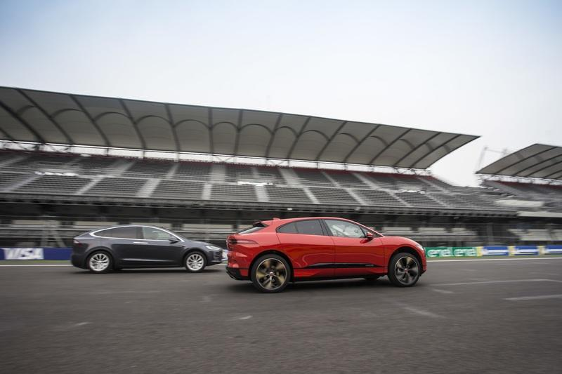 Watch the Jaguar I-Pace Kick the Hell out of the Tesla Model X