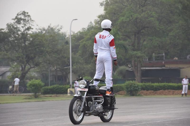 The BSF of the Indian army created four stunt riding records in one month