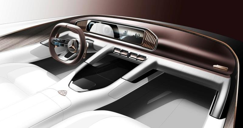 Official Sketch Is an Interior Preview of the Beijing-Bound SUV from Mercedes-Maybach