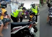 Video: A kindergarten kid gets caught by cops for riding a mini-moto on a highway - image 776575