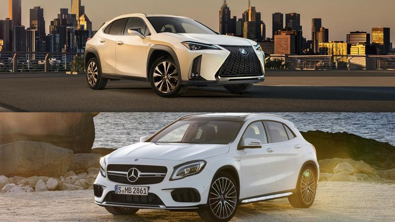Visual Comparison: 2019 Lexus UX vs 2018 Mercedes-Benz GLA