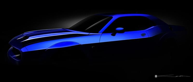 Dodge Teases a New Hood Scoop for the 2019 Dodge Challenger SRT Hellcat