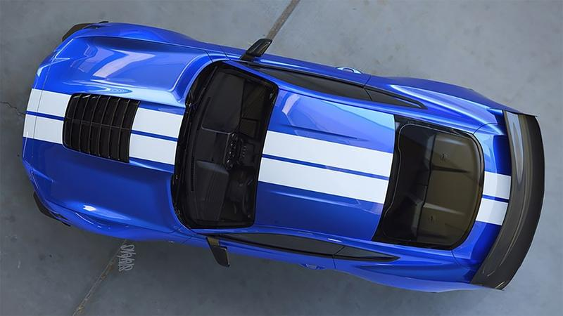 First Official Image of the Ford Mustang Shelby GT500 Shows a Big Hood Vent and Carbon Wing