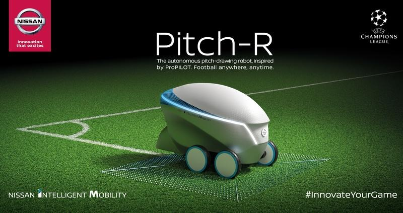 Meet the Nissan Pitch-R: a Pro-Pilot-Inspired Autonomous Robot the Draws Soccer Fields