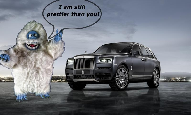 Pops' Rants: The Abominable Snowman Is Real! It's Called the Rolls-Royce Cullinan
