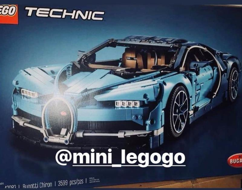 The Lego Technic Bugatti Chiron Box Leaks Just Hours After Its June 1st Debut was Announced