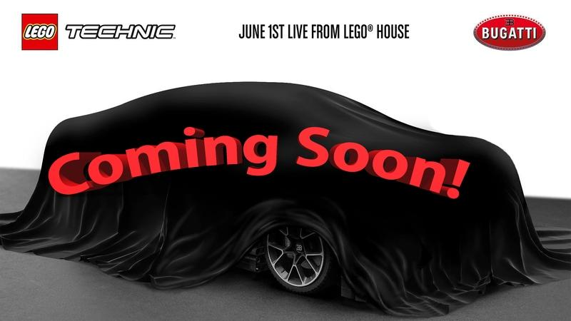 The Lego Technic Bugatti Chiron Will Debut at a Special Event on June 1st!