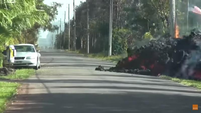 Video of the Day: Hawaii Volcano Lava Eats a Ford Mustang
