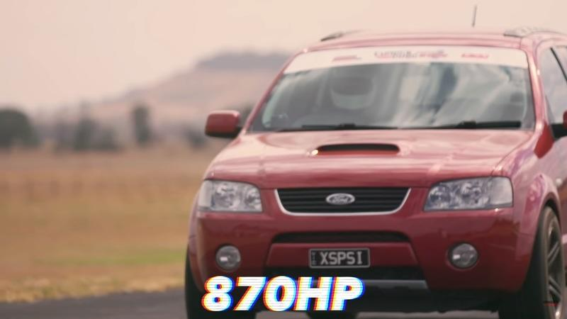 Video of the Day: Watch A Sleeper-Spec Ford Territory Crossover Lay The Smackdown At The Drag Strip
