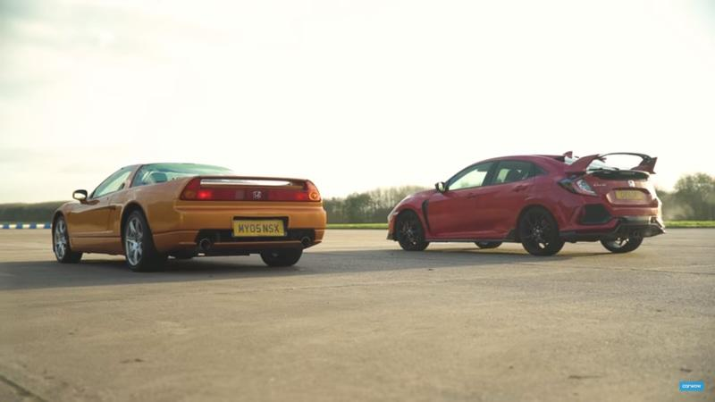 Video of the Day: 2017 Honda Civic Type R vs 2005 Acura NSX