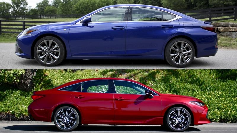 2019 Lexus ES Versus 2019 Toyota Avalon - Which Is Better?