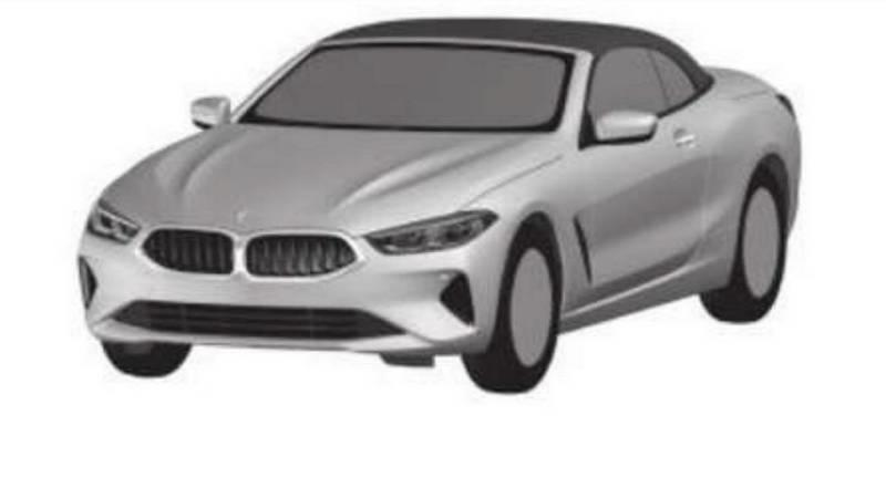 Days After BMW Unveiled the New 8 Series, Patent Drawings of The Convertible and Gran Coupe Versions Have Already Surfaced