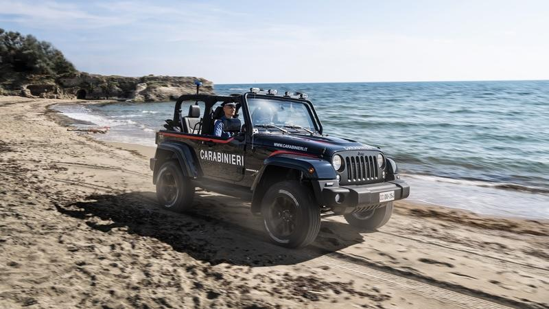 The Jeep Wrangler is All Set For Beach Patrolling in Italy!