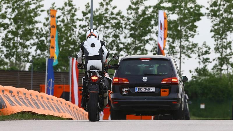 KTM Reveals Adaptive Cruise Control and Blind Spot Detection
