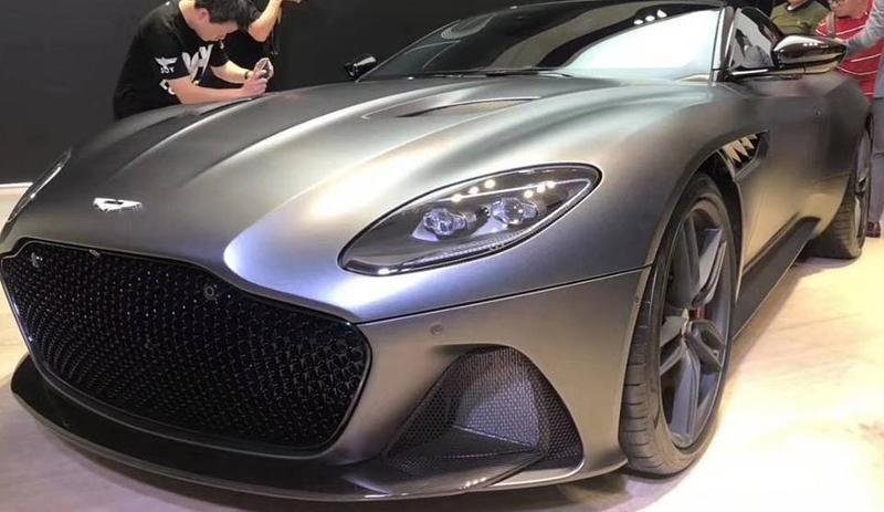 Leaked: The Aston Martin DBS Superleggera shows its stunning body at a Private event