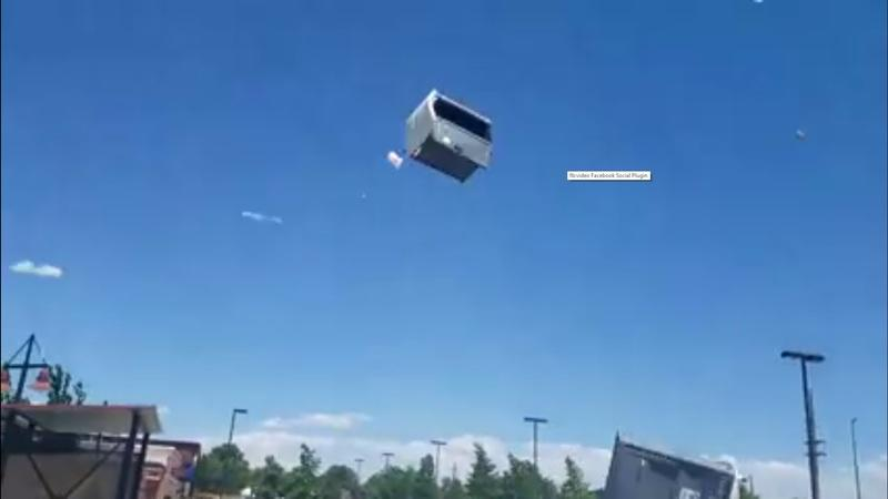 Off Topic – Watch A Pair of Porta-a-Johns Take Flight