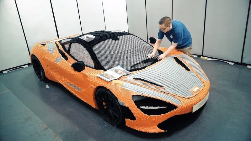 The Full-Scale McLaren 720S Made Out of Legos is at the Petersen Automotive Musem