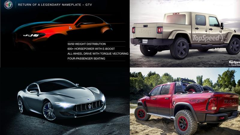 The Top 5 Cars We're Excited To See From FCA in The Next Four Years