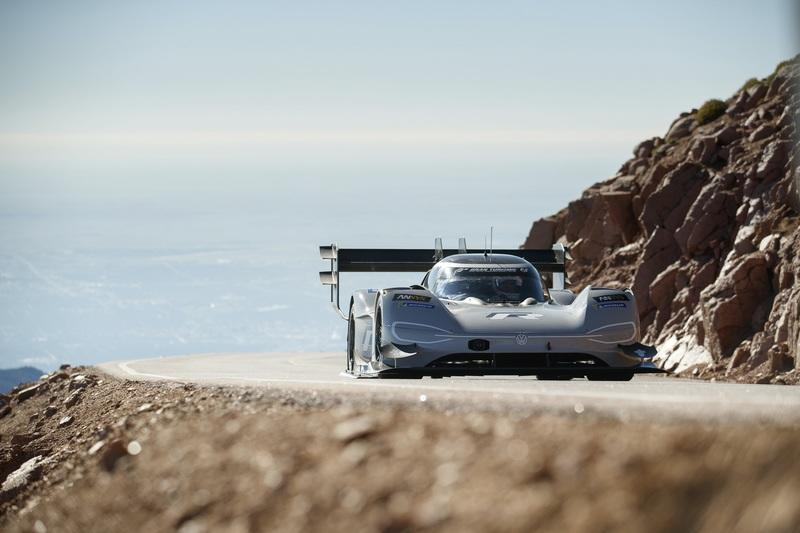 Romain Dumas and the Volkswagen I.D. R Pikes Peak Racer Shatter the Pikes Peak Time Attack Record