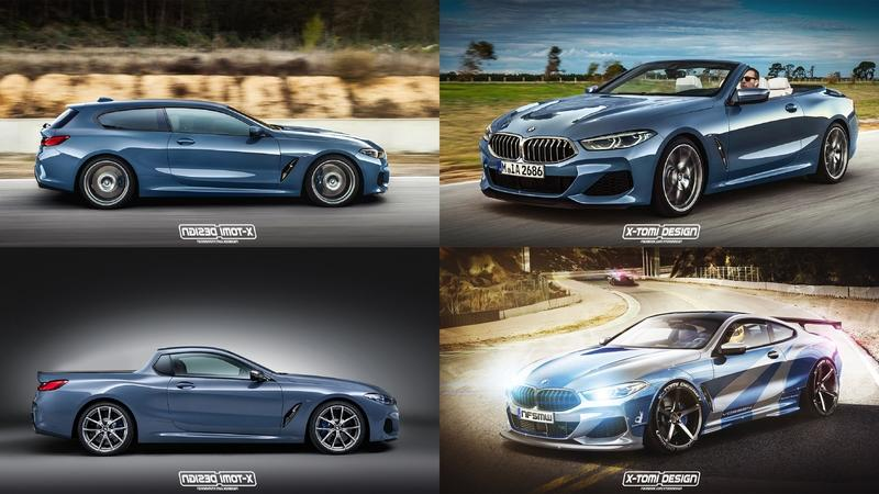 Xtomi Renders the 8 Series as a Cabrio, Pickup, Shooting Brake, and NFS Most Wanted Street Racer