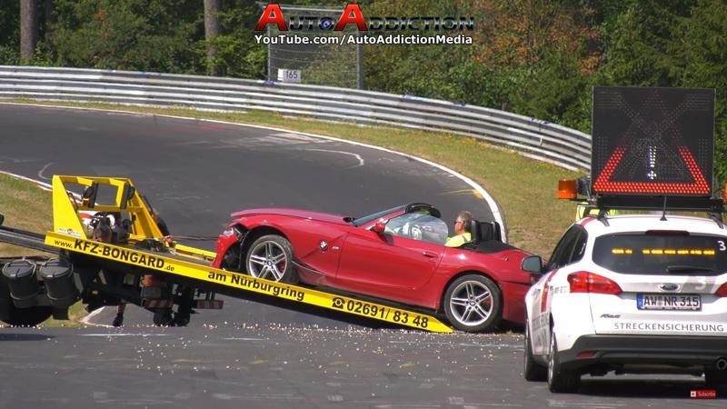 Another One Bites the Dust: BMW Z4 Roadster Fails to Negotiate Curves at the 'Ring