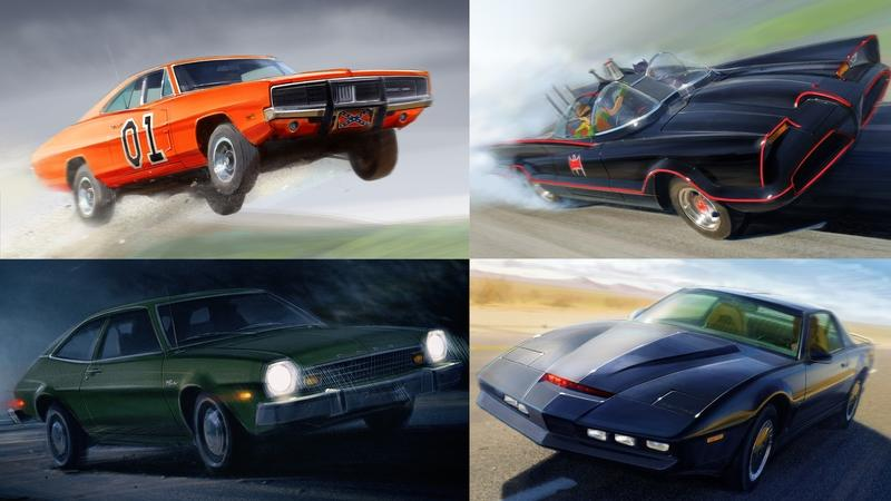 Budget Direct Renders 10 Cult Classic TV Show Cars