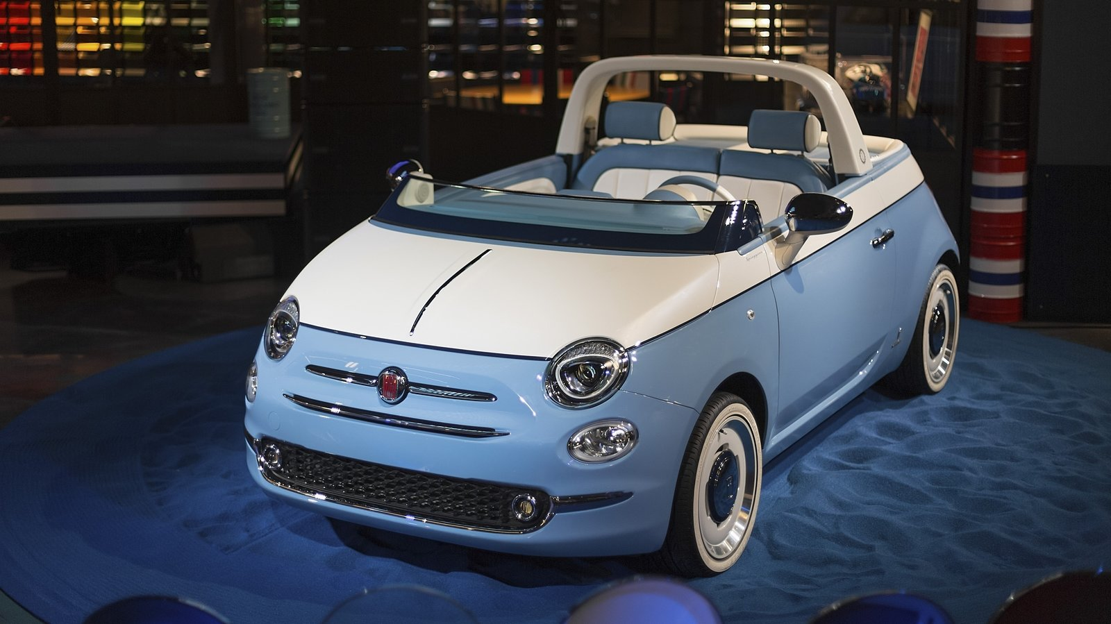 2018 fiat 500 spiaggina by garage italia and pinninfarina pictures photos wallpapers and video. Black Bedroom Furniture Sets. Home Design Ideas