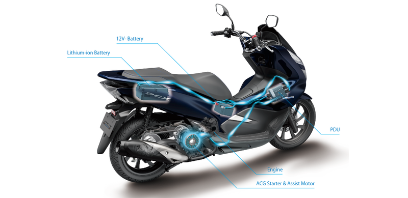 Honda introduces the world's first hybrid scooter