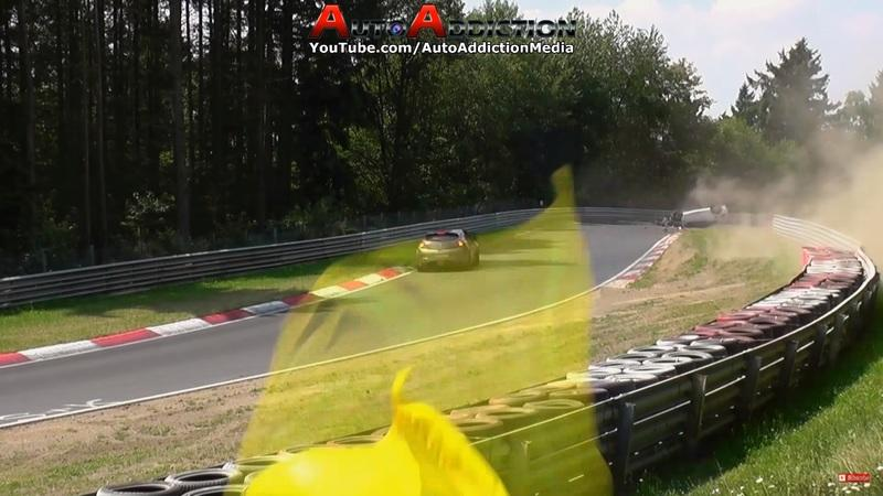 Oops! Volkswagen Scirocco Rolls 3 Times at the Nürburgring