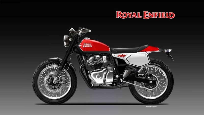 The Royal Enfield 650 gets a Street Tracker rendering