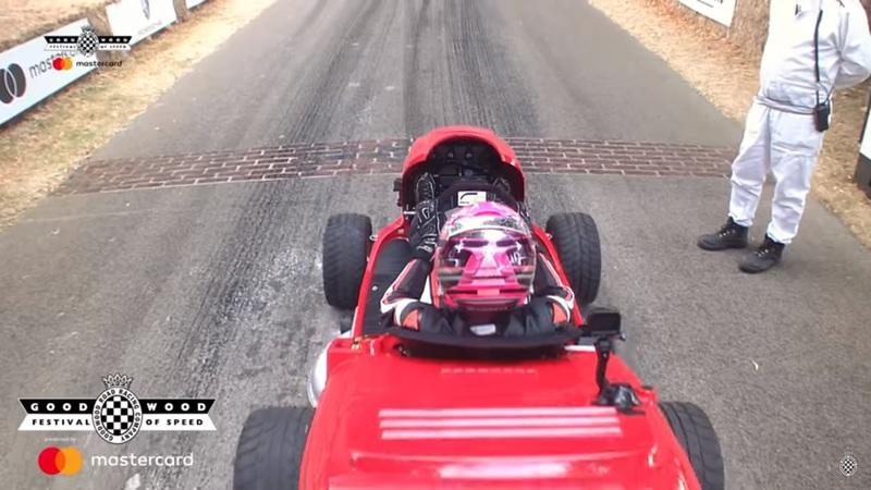 Video: Honda Mean Mower V2 Slices Up Lord March's Driveway