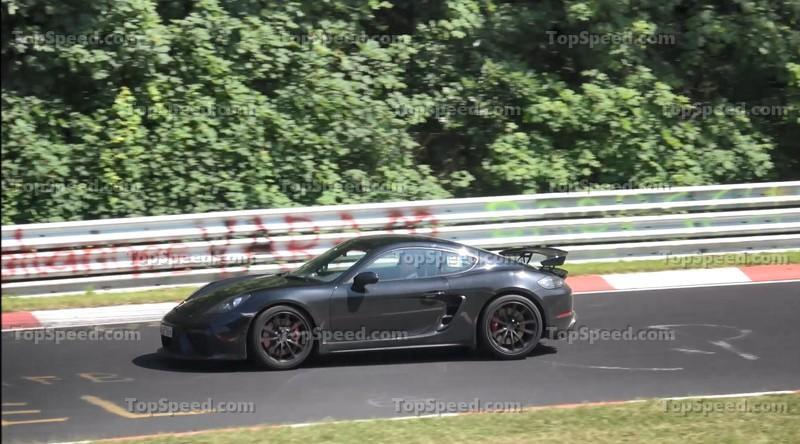 Video: Porsche Cayman GT4 Spied at the 'Ring, Looks Good Sideways