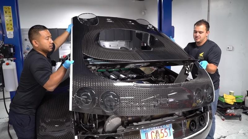 Watch How the $21,000, 27-Hour Oil Change is Done on a Bugatti Veyron