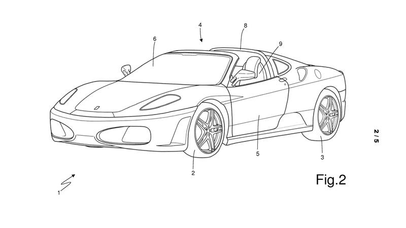 A New Roof Design Patent Could Pave The Way For Ferrari To Bring Back The Targa