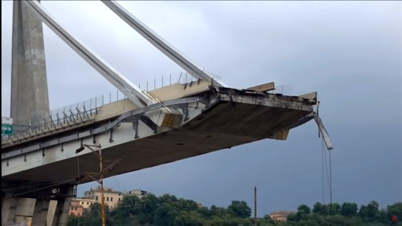 Bridge Collapse in Italy Sends Cars Falling 150+ Feet