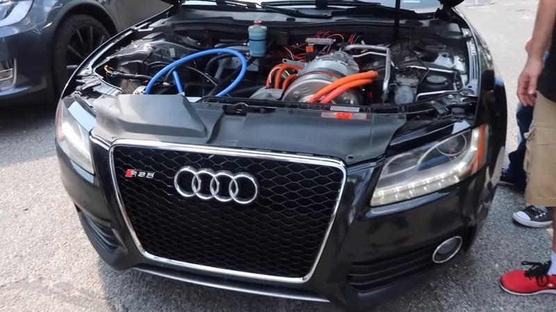 Check Out This Audi S5 With Tesla Model S Power
