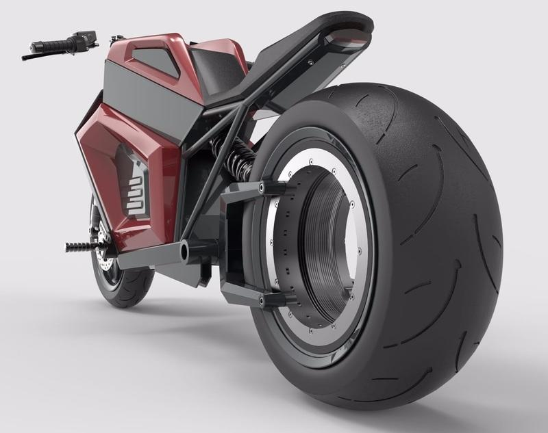 This Finnish company is making the 'Tron' hubless electric motorcycle