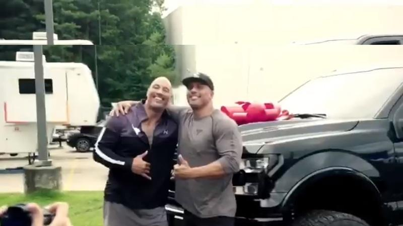 Fast and Furious Star Dwayne Johnson AKA The Rock Gifts His Stunt Double a Jacked-Up F-150