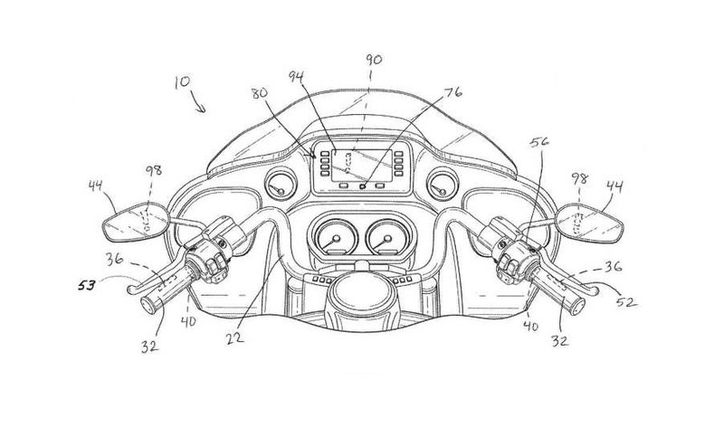 Harley Davidson files patent for Autonomous Braking