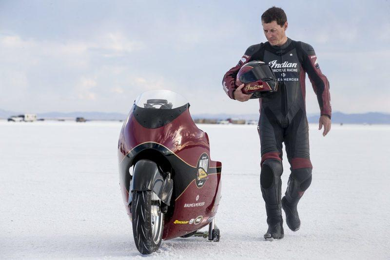 Indian Motorcycle attempting to break the 200 mph barrier
