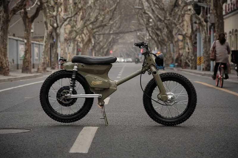 Shanghai Customs have come up with this electric powered eCub 2 bike and kit