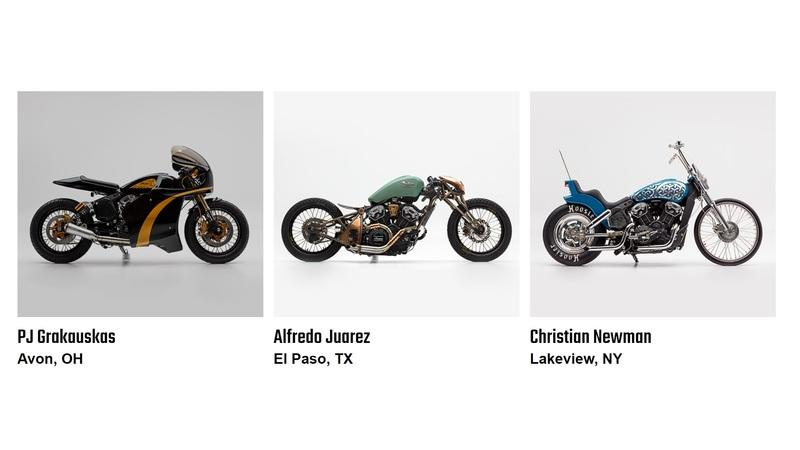 "Indian showcases ""The Wrench"" finalists at the Sturgis show"